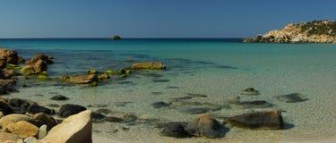 Vista stupefacente - spiaggia di Chia Fotografia Stock Libera da Diritti