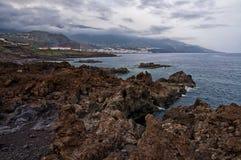 Vista stupefacente sul mare ondulato Immagini Stock Libere da Diritti