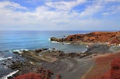 Vista stupefacente sul mare ondulato Fotografie Stock