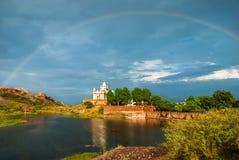 Vista stupefacente sul mausoleo dopo la pioggia, Jodhpur di Jaswanth Thada Fotografia Stock