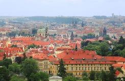 Vista stupefacente sulla città di Praga fotografia stock