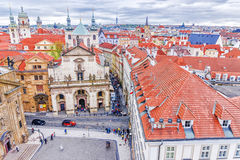 Vista stupefacente sulla città di Praga Immagine Stock Libera da Diritti