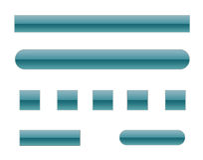 Vista Style Web Elements [02]. A Blue Vista Style Web Elements Collection Stock Photography