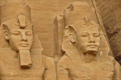 Vista su Abu Simbel famoso nell'Egitto Fotografie Stock