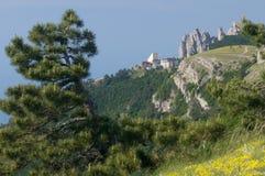 Vista su Ai-Pétri, Crimea Fotografie Stock Libere da Diritti