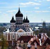 Vista su Alexander Nevsky Cathedral a Tallinn, Estonia Immagini Stock Libere da Diritti