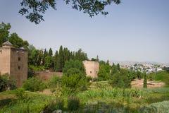 Vista su Alhambra Immagini Stock Libere da Diritti