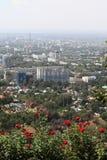 Vista su Almaty dal supporto Fotografie Stock Libere da Diritti