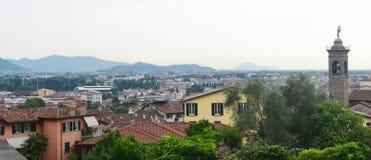 Vista su Bergamo Immagine Stock