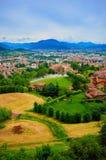 Vista su Bergamo Immagini Stock Libere da Diritti