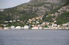 Vista su Bergen Fotografie Stock