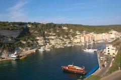 Vista su Bonifaccio Fotografia Stock
