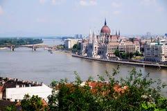 Vista su Budapest Fotografia Stock