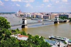 Vista su Budapest Fotografia Stock Libera da Diritti