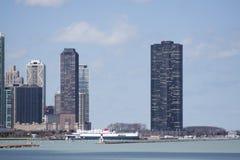 Vista su Chicago del centro fotografia stock libera da diritti