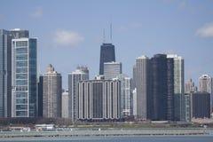 Vista su Chicago del centro fotografia stock