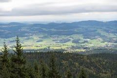 Vista su Dreisesselberg - Selva Boema Immagini Stock