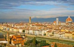 Vista su Firenze dalla sosta del Michelangelo Fotografie Stock