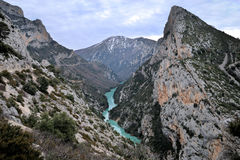 Vista su Gorges du Verdon fotografia stock