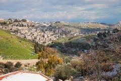 Vista su Kidron Valley e su Gerusalemme orientale Immagine Stock Libera da Diritti
