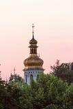 Vista su Kiev-Pechersk ivening Lavra a Kiev Fotografia Stock