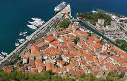 Vista su Kotor, Montenegro immagine stock