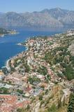 Vista su Kotor, Montenegro fotografie stock