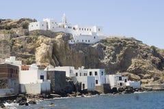 Vista su Mandraki, Nisiros, Grecia Fotografie Stock Libere da Diritti