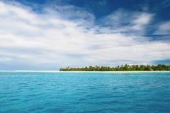 Vista su Maupiti, Polinesia francese Fotografie Stock Libere da Diritti