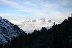 Vista su Mont Blanc Fotografia Stock Libera da Diritti