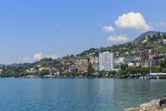 Vista su Montreux Fotografie Stock Libere da Diritti