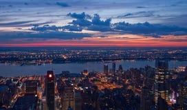 Vista su New York e sul New Jersey Immagini Stock