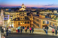 df2f10547c0 Vista su Roma con il dei Monti di Scalinata di Trinita o i punti spagnoli,  Piazza