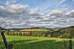 Vista su Sauerland, Germania, Europa Fotografia Stock