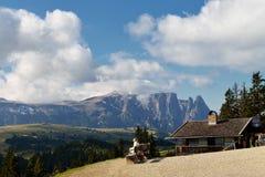 Vista su Sciliar, dolomia, Italia Fotografie Stock