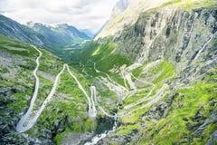 Vista su Trollstigen famoso Fotografia Stock