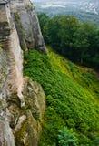Vista su un dettaglio della fortezza del konigstein Fotografie Stock