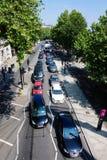 Vista su un ingorgo stradale a Londra fotografia stock libera da diritti