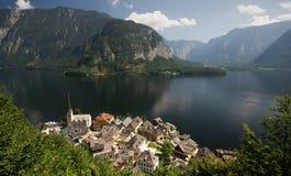 Vista su un lago austriaco Fotografia Stock Libera da Diritti