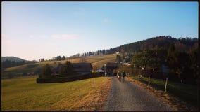 Vista su un percorso soleggiato di autunno Fotografia Stock Libera da Diritti