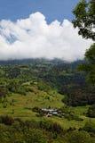 Vista su un piccolo villaggio Fotografia Stock Libera da Diritti