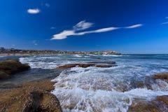 Vista su una spiaggia Immagini Stock