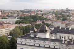 Vista su Vilnius dal tetto Immagine Stock