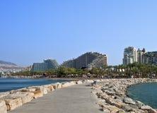 Vista sugli hotel di ricorso in Eilat Immagini Stock