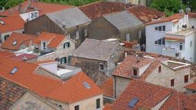 Vista sui tetti stock footage