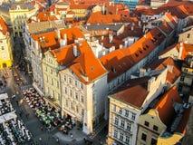 Vista sui tetti a Praga fotografia stock libera da diritti