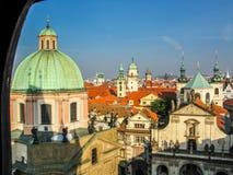 Vista sui tetti a Praga immagine stock libera da diritti
