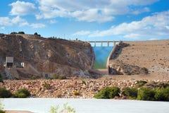 Vista sul bacino idrico di Cuevas del Almanzora Fotografia Stock Libera da Diritti