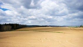 Vista sul campo arato Immagini Stock Libere da Diritti