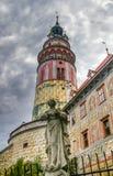 Vista sul castello in Cesky Krumlov fotografia stock